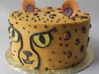 childs birthday cake cheetah cake