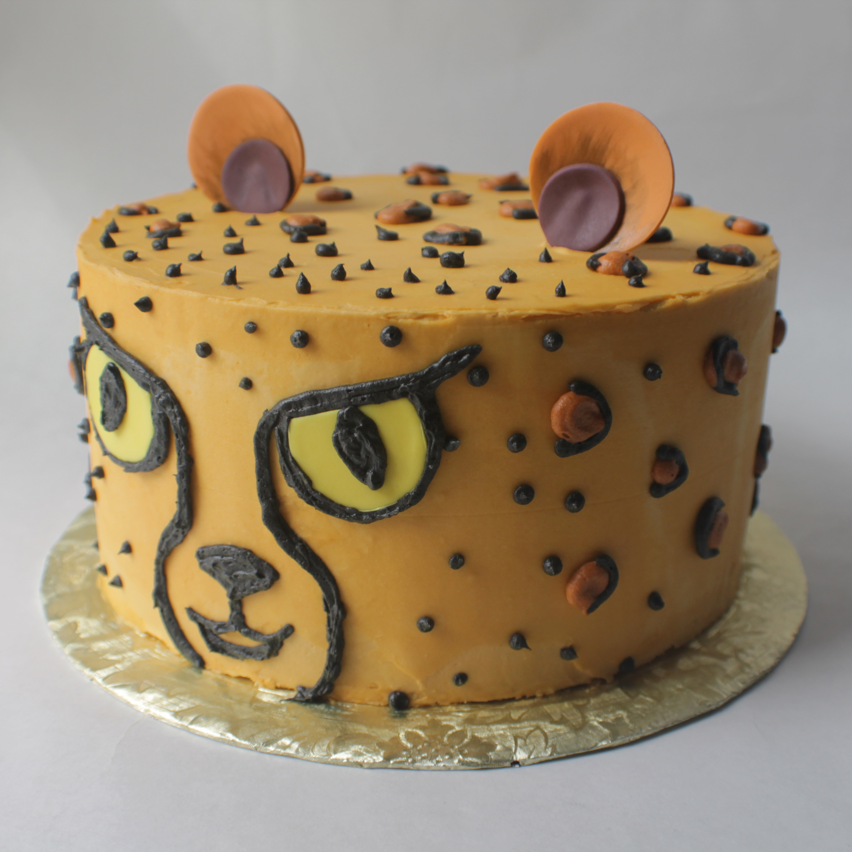 childs birthday cake cheetah cake