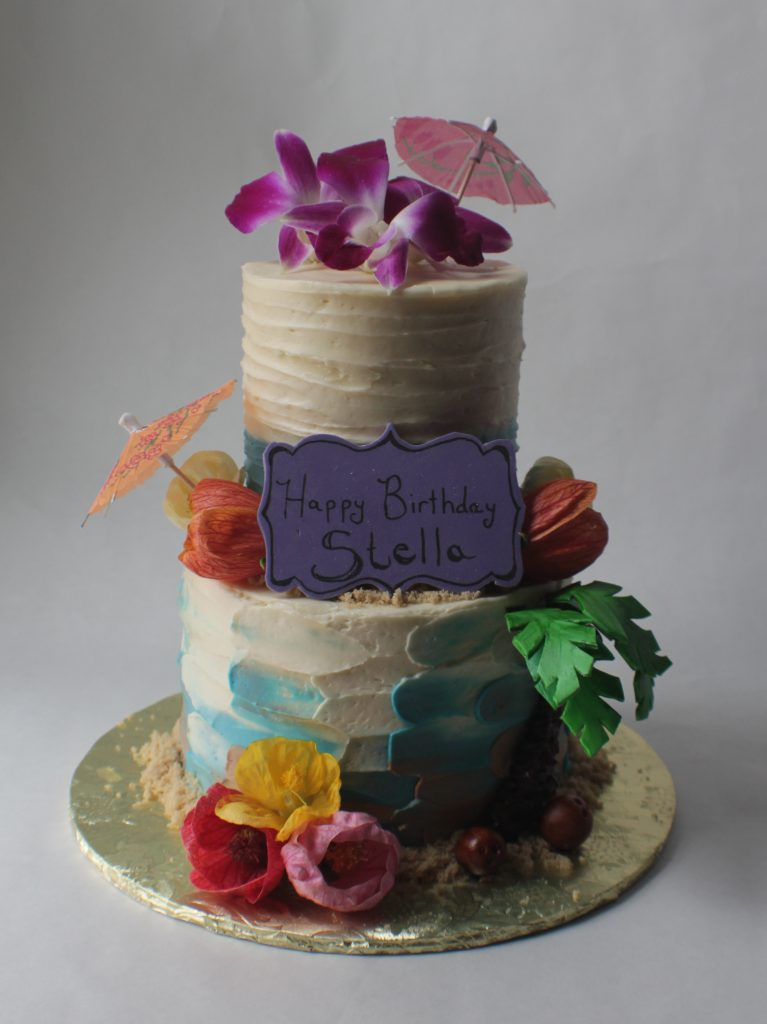 Tremendous Tropical Theme Birthday Cake Extra Special Tiny Bake Shop Birthday Cards Printable Trancafe Filternl