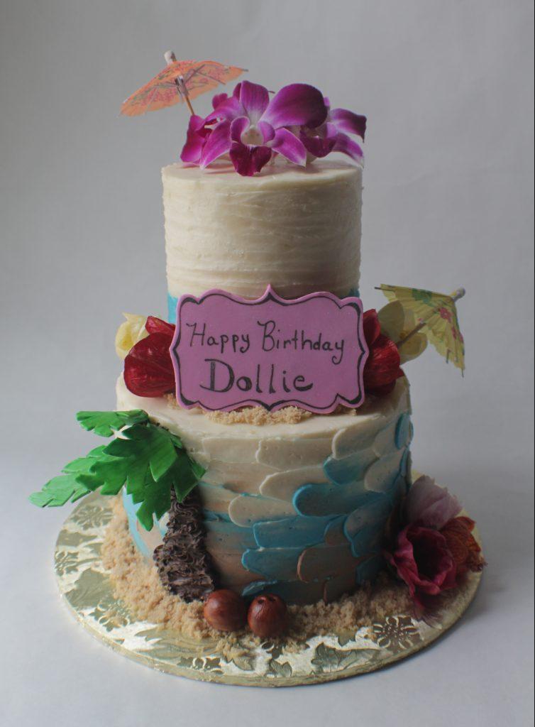 Stupendous Tropical Theme Birthday Cake Extra Special Tiny Bake Shop Birthday Cards Printable Trancafe Filternl